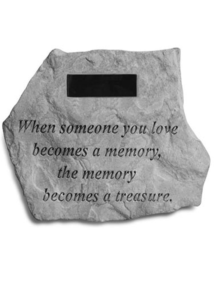 Memorial Stone - When Someone You Love Becomes a Treasure