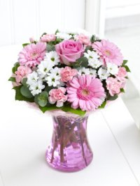 Pink and White Bouquet of Flowers