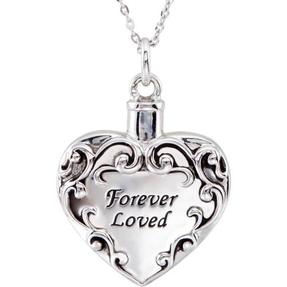Forever Loved Silver Cremation Locket