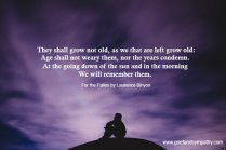 They shall not grow old poem