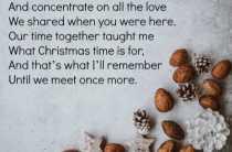 Christmas Memorial Poem