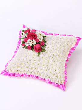Pink and White Cushion of Flowers