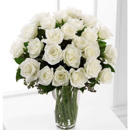 White Roses Sympathy Flowers