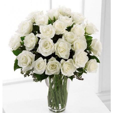 White Roses Sympathy Flowers