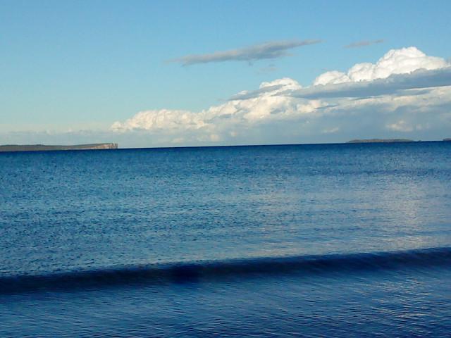 Blue Waves illustrating poem for grief