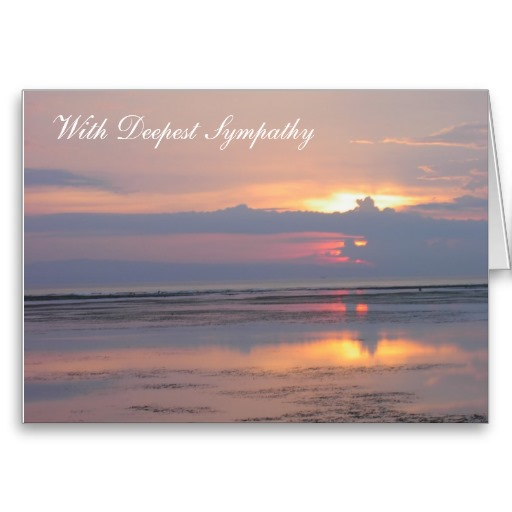 With Deepest Sympathy Card with Pink Sunrise