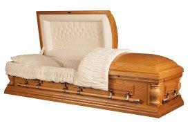 casket in oak