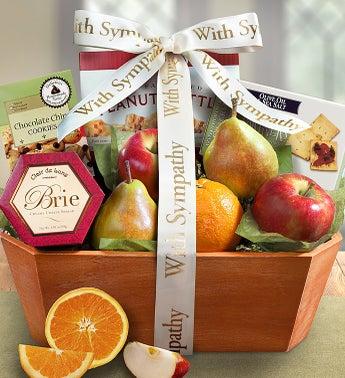 With Sympathy Fruit Basket