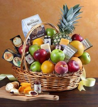 Deluxe Sympathy Fruit Basket Gift