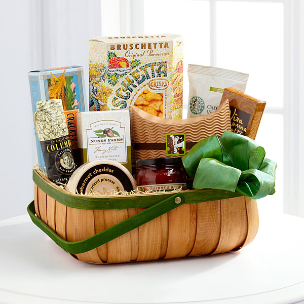 Gourmet Sympathy Basket from Flowers Fast