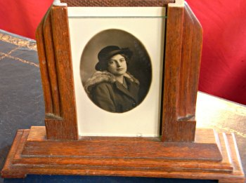 Photo of deceased loved one in a frame
