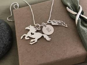 horse memorial necklace