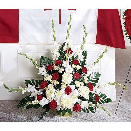 Patriotic funeral flowers