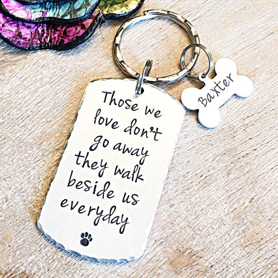 Pet Loss Keychain with Bone