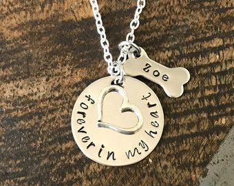 Pet memorial necklace with charms