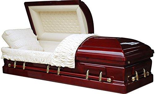 mahogany funeral casket