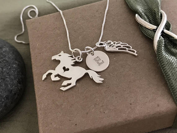 Horse memorial charm necklace