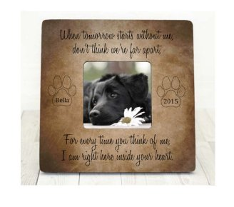 Personalised Pet Loss Photo Frame