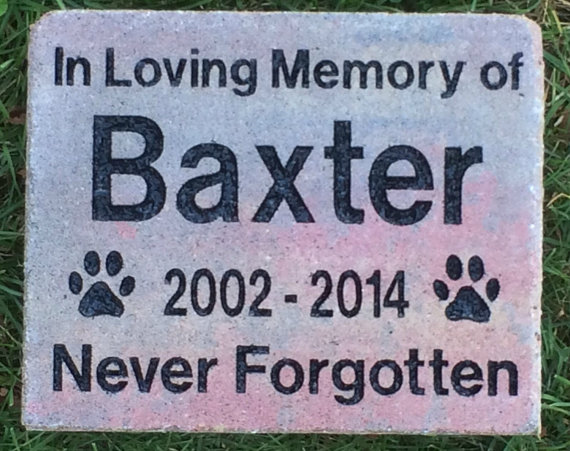 Pet Marker Memorial Grave Stone with Engraved Text