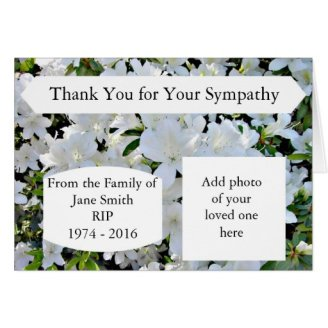 bereavement thank you notes for cards flowers and