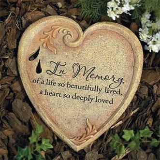 In Memory Memorial Garden Stone