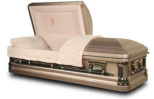 Platinum Rose Funeral Casket