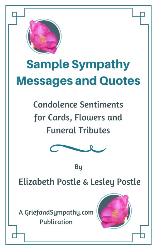 Sample Sympathy Messages Book by Elizabeth and Lesley Postle