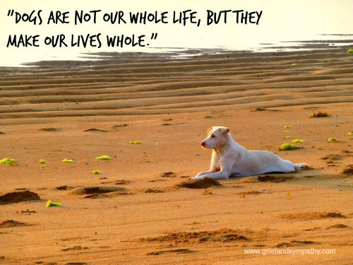 Dog Greeting Card - Dogs are not our whole lives but they make our lives whole