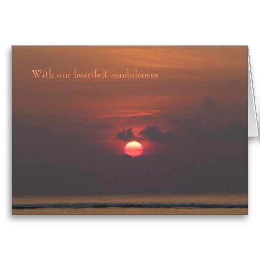 Sympathy Card With Heartfelt Condolences