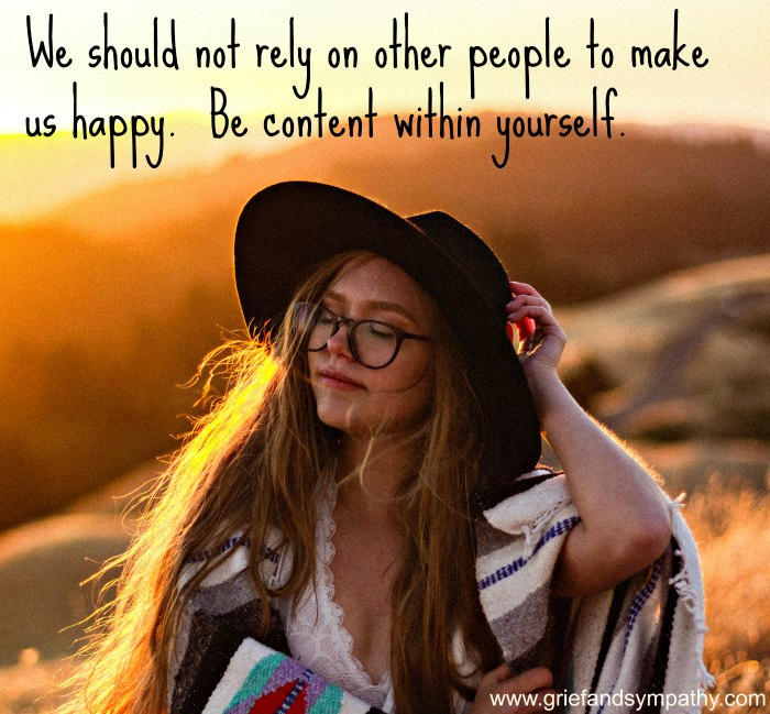 Don't rely on others to make us happy.  Original photo by Emil Jarfelt on Unsplash