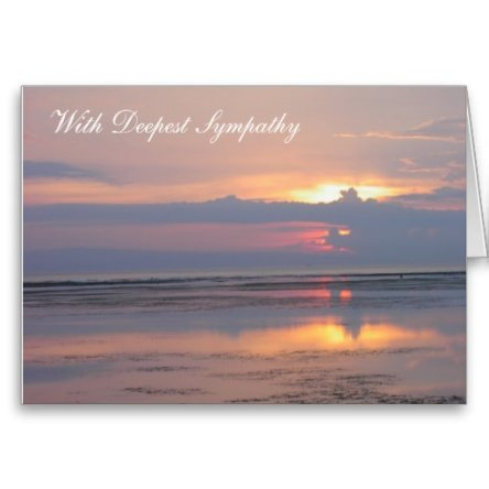 Sympathy Card, Pink Sunrise