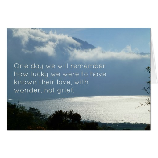 Sympathy Card with Inspirational Text View of Lake