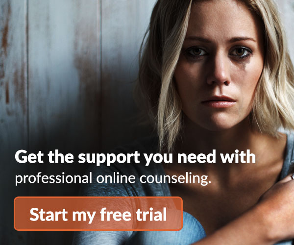 Crying Woman - Advertising Online Counselling Service