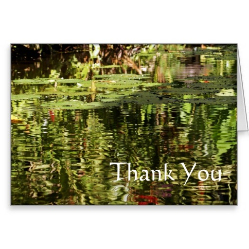 Thank You Card with Lily Pond