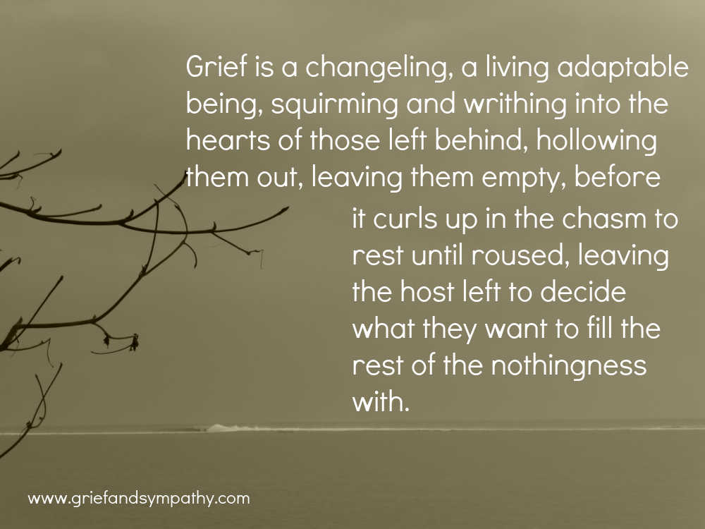 Grieving for my brother - meme - grief is a changeling