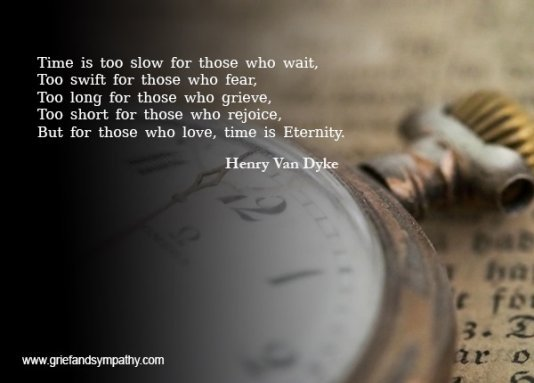 Time is too slow for those who wait, by Henry Van Dyke.