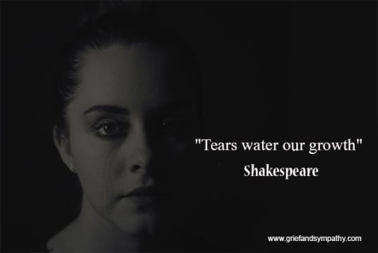 Shakespeare quote - Tears water our growth