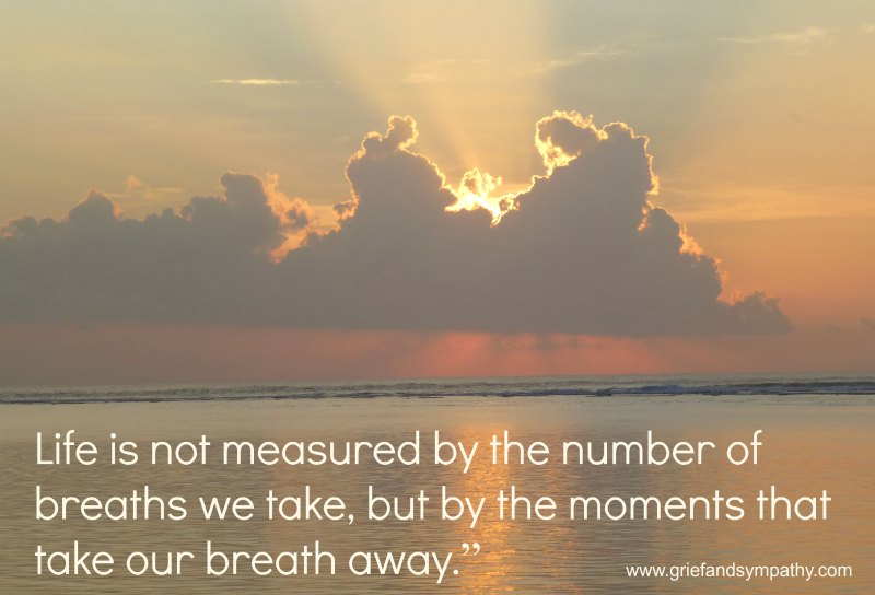 Grief Quote - Life is not measured by the number of breaths we take