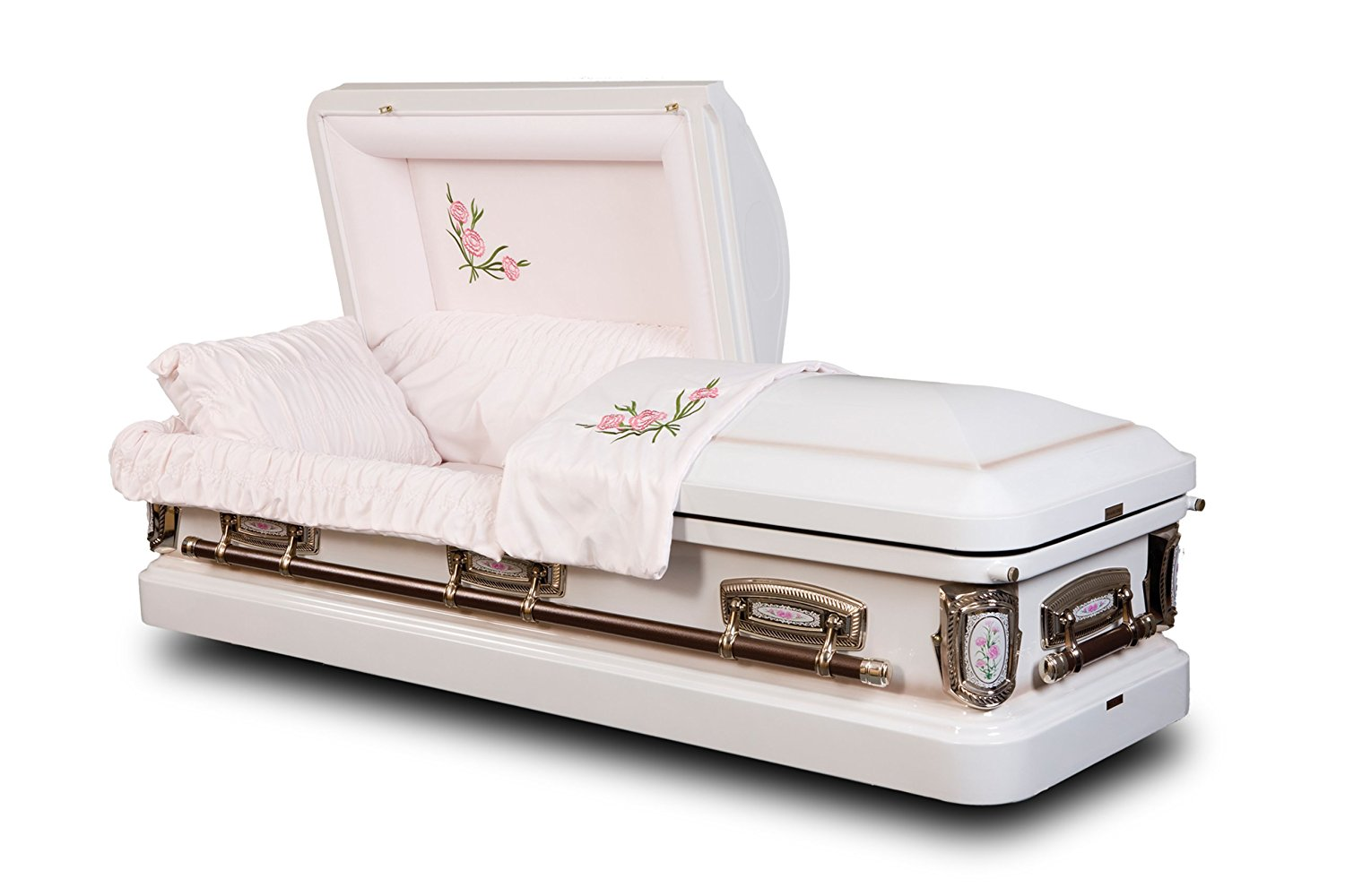 White Casket with Flowers from Star Legacy