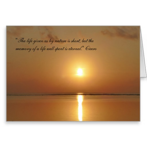 Sympathy Card with Sunset and Cicero Quote
