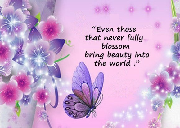 Loss of a Baby Sympathy Card with Butterfly and Quote - Even those that never fully blossom bring beauty into the world.