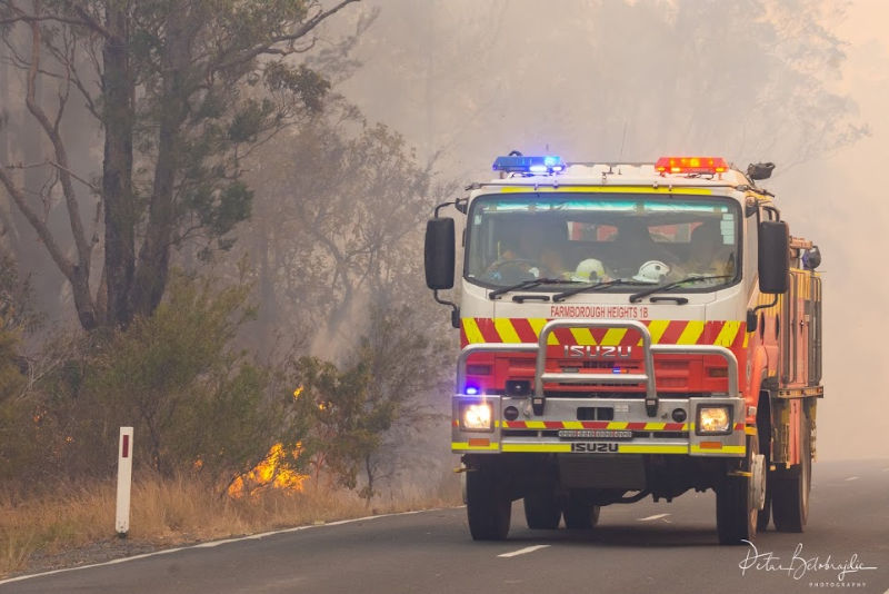 Fire truck by the bush. NSW 2019. PetarB Photography