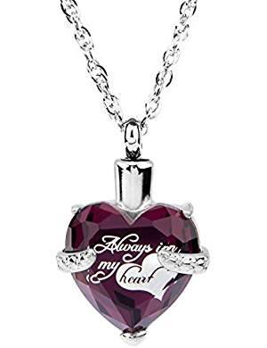 Affordable cremation jewelry keep your loved one close amethyst glass cremation ashes pendant mozeypictures Choice Image