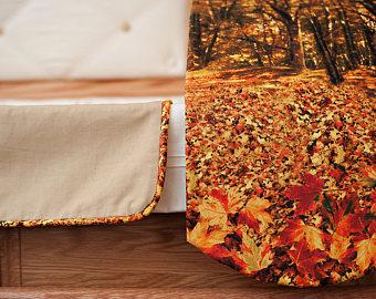 Casket Adornment Set Autumn Leaves Fabric Accessory