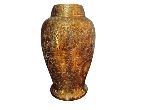 Brass Floral Design Memorial Urn