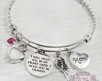 engraved memorial charm bracelet