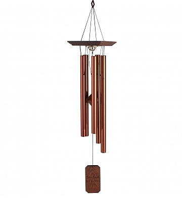 Engraved memorial chimes