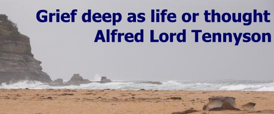 Grief deep as life or thought - Alfred Lord Tennyson