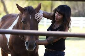 Joanne Cacciatore with her horse
