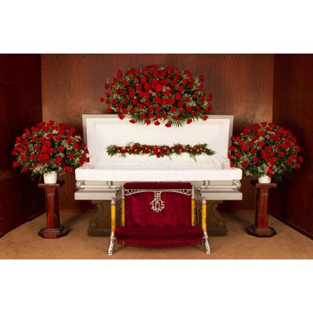 Roses Funeral Flower Package in Red